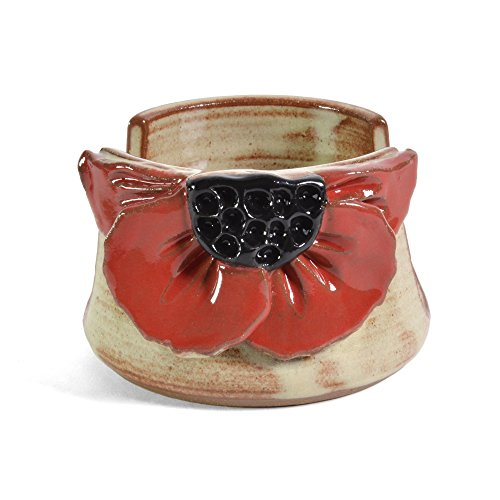 MudWorks Pottery Red Poppy Sponge Holder
