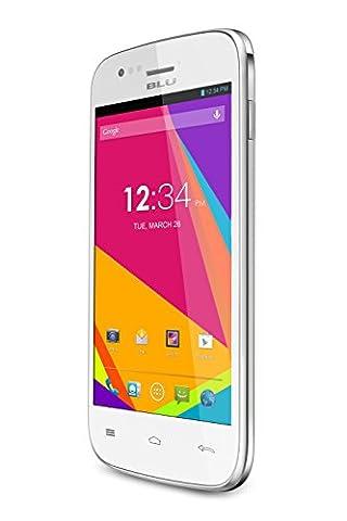 BLU Advance 4.0 Unlocked Dual SIM Cellphone, 4GB, White (Iphone 4 Unlocked Cdma)