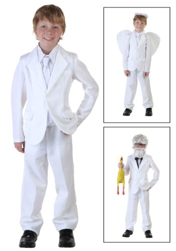 Fun Costumes White Suit Costume Large (Angel Costume Boys)