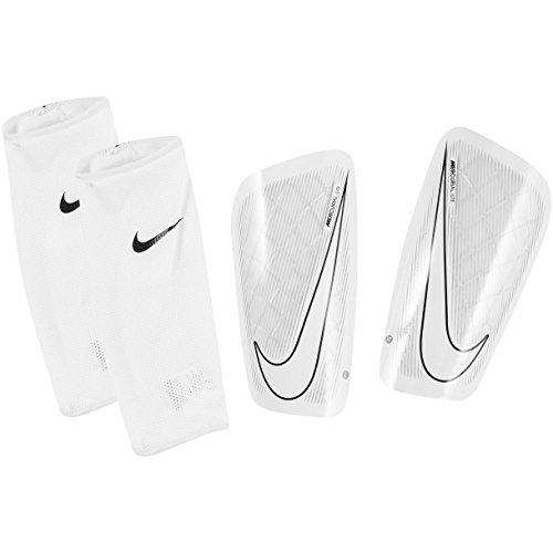 Nike Mercurial Lite Soccer Shin Guards (Small) White, (White Soccer Shin Guard)