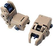 HWZ Newest Model Tactical Polymer Folding Front and Rear Set Flip Up Backup Sights