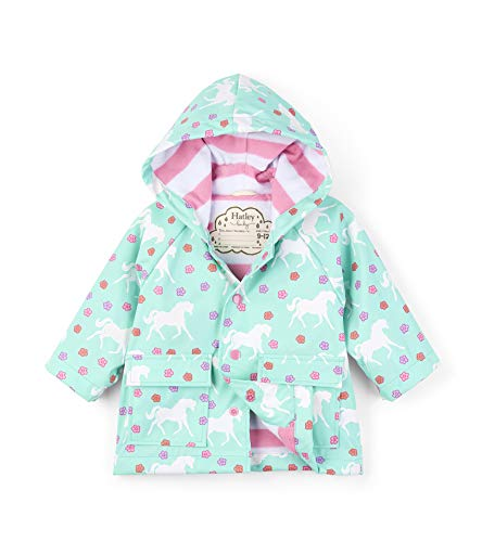 Hatley Baby Girls Printed Raincoats, Galloping Horses, 18-24 Months ()