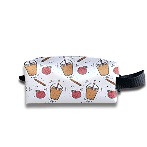 (Apple Cider Slush Pattern Portable Pencil Bag Coin Purse Pouch Stationery Storage Organizer Case Cosmetic Makeup Brush Holder with Durable Zipper for Students Office)