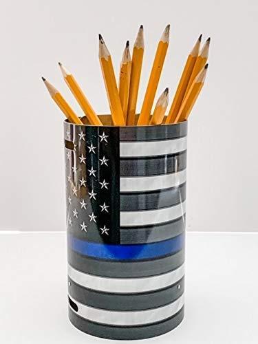 Thin Red Line Gift for Firefighter Liquor Bottle Gift Bag License Plate Canister Pencil Holder United States Flag