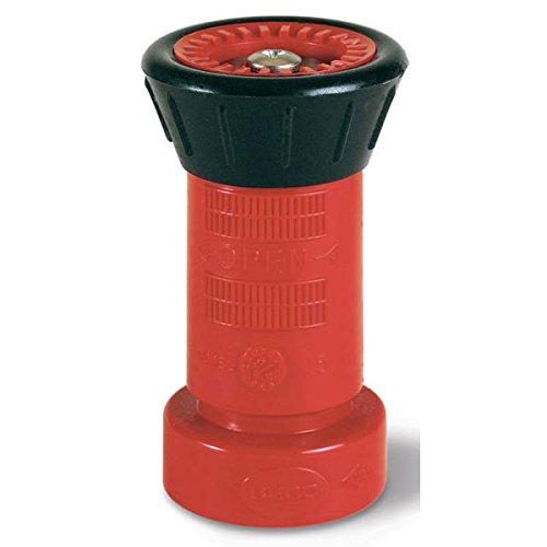 Polycarbonate Fire Hose Nozzle, 1 1/2'' NPSH, Fog/Shut-Off, 78 gpm (15 Pack)