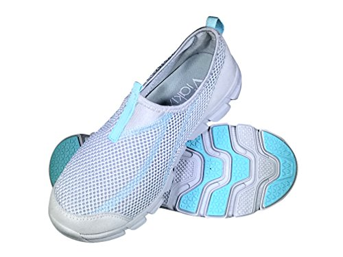 Viakix Womens Comfortable Stylish Quick Drying Mesh Aqua Slip-on for Swim Pool Beach Water Shoes