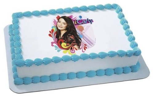 1/4 Sheet ~ iCarly Rocks Birthday ~ Edible - Icarly Cup