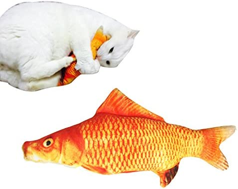 Coolfm Catnip Toys Set Simulation Fish Shape Doll Interactive Pets Pillow Chew Bite Supplies for Cat/Kitty/Kitten Fish Flop Cat Toy Catnip Crinkle Toys 3PCS (CAOY-3PCS) 7