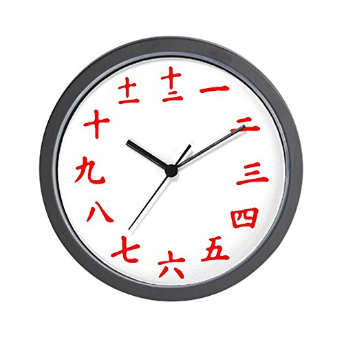 Japanese Kanji Wall Clock (Red) - Unique Decorative