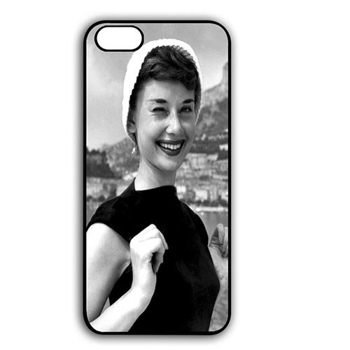 Coque,Custom Girly Audrey Hepburn Quotes Plastic Hard Case Covers for Coque iphone 7 4.7 pouce