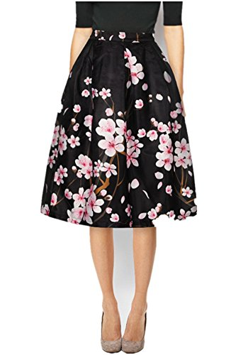 Mullsan Womens Floral Pleated Skater product image