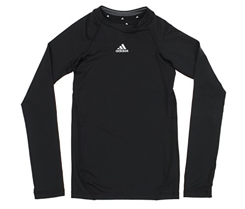 adidas Youth Boys Core Compression Long Sleeve Shirt, Black