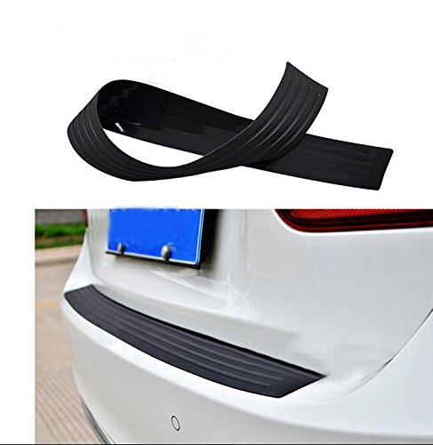 JessicaAlba Black New Rubber Rear Guard Bumper Protector Trim Cover For Subaru Forester Outback Lmpreza Justy Legacy Tribeca XV BRZ Deluxe Baja -