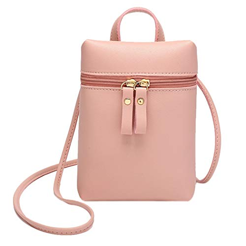 Phone Small Messenger Candy Backpack Alixyz Mobile Shoulder Color Bag Bag Purse Pink Black Women One wSqaB