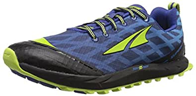 Altra Men's Superior 2 Trail Running Shoe, Navy/Lime, 8.5 M US