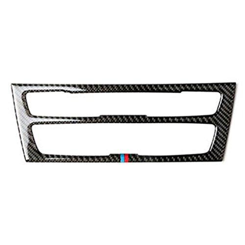 Egal Carbon Fiber Car Interior Air Conditioning CD Panel Cover Trim Decor for BMW 1 Series 2 Series 2012-2017 2 colors (Compact Bmw)