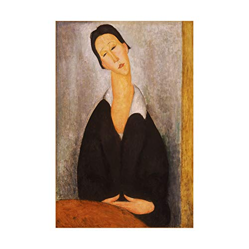 Trademark Fine Art Portrait of a Polish Woman by Modigliani, 30x47, Multiple