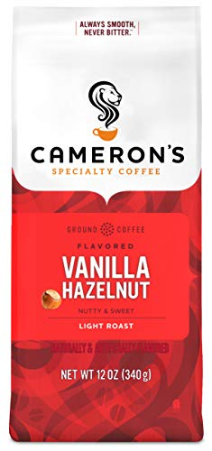 Cameron's Coffee Roasted Ground Coffee Bag, Flavored, Vanilla Hazelnut, 12 Ounce