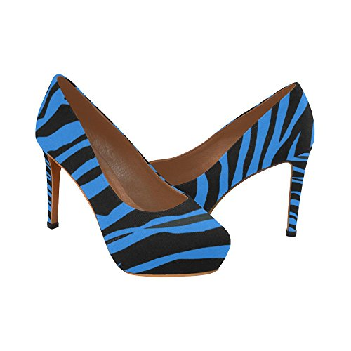 Strisce Blu Zebra Interestprint Blu Strisce Donna Sexy Tacchi Alti Scarpe Zebra Blu Strisce