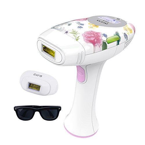 DEESS Permanent Hair Removal System for Women and Men 2in1 iLight 2, Speed-up Version Home Use. 350,000 flashes. [Device+1 Big Hair Removal +1 Small Hair Removal Lamp][with Goggles Non-Rechargeable]