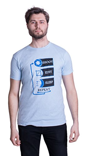 Shoot, Edit, Sleep, Repeat | Funny Photography Unisex Photographer Humor T-shirt