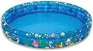 Piscina inflavel infantil em promoção 3 anéis redonda para crianças bebes redonda piscina verão praia casa col
