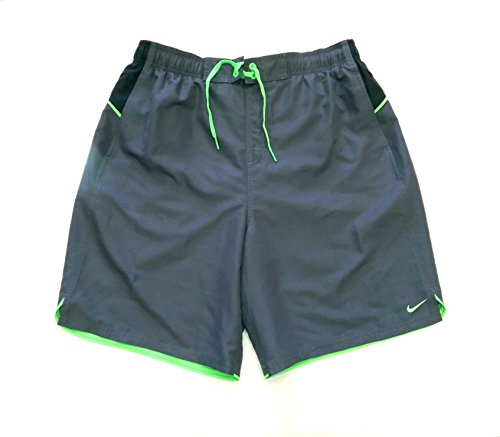 Nike Mens Core Colorblock Swim Shorts Grey/Green XL NESS6413 (X-Large, Grey/Green)