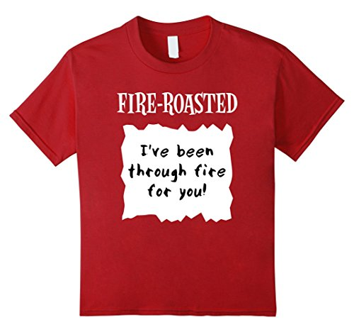 Halloween Costumes For Groups Of 6 (Kids GROUP HALLOWEEN Shirt FIRE-ROASTED HOT SAUCE PACKET T-shirt 6 Cranberry)