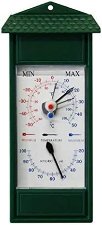 Lantelme 3201 Bimetall Analog min/max exterior, jardín higrómetro y termómetro. Jardín Termómetro Minimal máxima indicador de temperatura de - 50 °C a 50 °C. Thermo higrómetro Color Verde: Amazon.es: Jardín