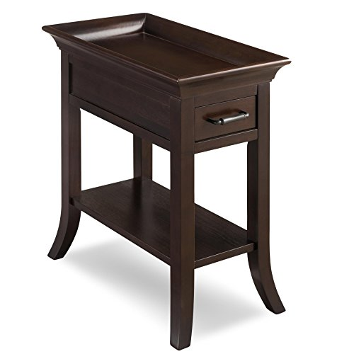 Leick Home Traditional Tray Edge Chairside Table
