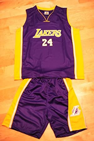 buy popular 44a44 0368f Kobe Bryant Basketball Jersey Set: Purple #24 LA Lakers Kids ...