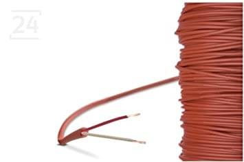 Schnelle Lieferung Silikonleitung 5m Fühler Verlängerung Silikonkabel Bis 200°c 2-leiter Silikon Installation & Sanitär Heizung