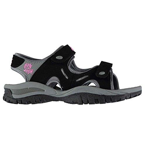 Slazenger Womens Sandalo Wave Sandali Con Cinturino Due Touch E Cinturini Estivi Neri