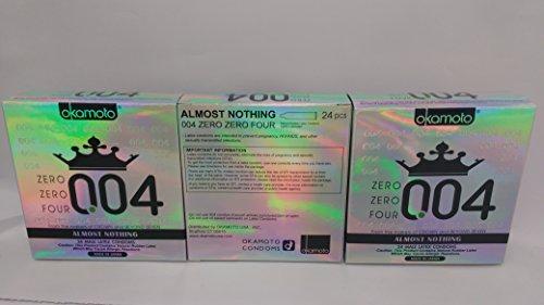 Okamoto 0.04 Zero Zero Four Condoms, 3 boxes (72 count) by OKAMOTO