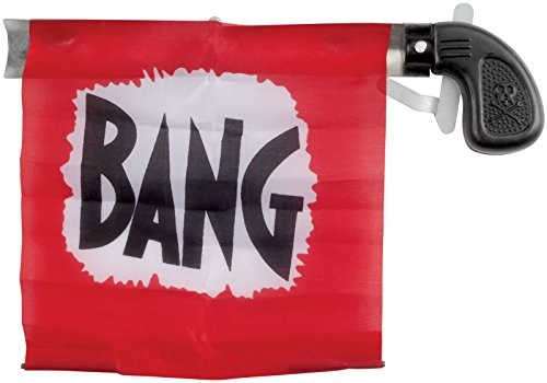 Loftus Star Power Starter Prank Bang Gun Flag Pistol, Red/Black/White, 5