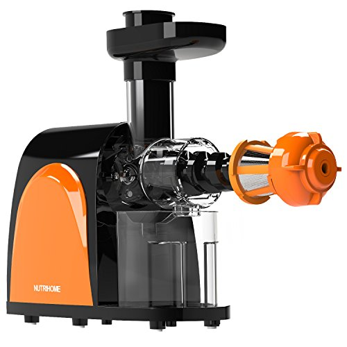 Masticating Juicer Extractor - Slow Juicer Machine for Higher Nutritional Value and Juice Yield by Quiet Motor from Fresh Fruit and Vegetable,with Juice Jug and Cleaning Brush