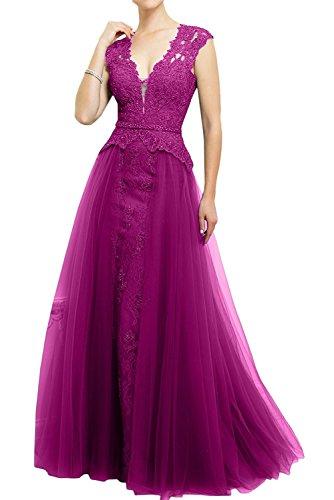 Spitze Fuchsia Marie Abendkleider Dunkel Linie La Rosa Rock A Braut Ballkleider Lang Glamour Brautmutterkleider wHxOTAqFI