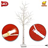 Strong Camel LED Birch Tree,Lighted Tree for Indoor & Outdoor Decoration,Warm White (6FT)