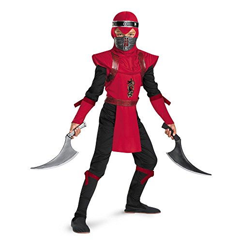 Shadow Ninjas Night Fury Red Viper Ninja Deluxe Boys Costume, 4-6 ()