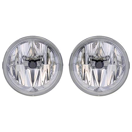 Fits 2004 Jeep Grand Cherokee Pair Fog Lights R=L Single Piece CH2592126 CH2592126 - replaces 55156733AC 55156733AC