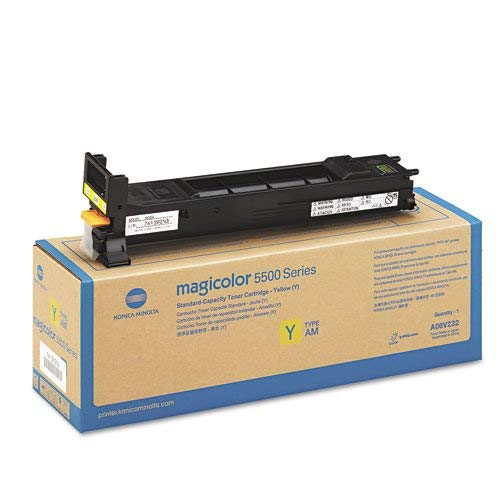 Konica Minolta A06V232 Magicolor 5550 5570 5650 5670 Toner Cartridge (Yellow) in Retail Packaging (Konica Minolta 5500)