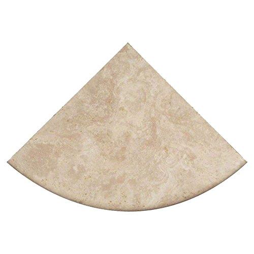 Price comparison product image Premium Quality Durango Cream Filled and Honed Ivory Light Travertine Corner Shelf 9'' (1)