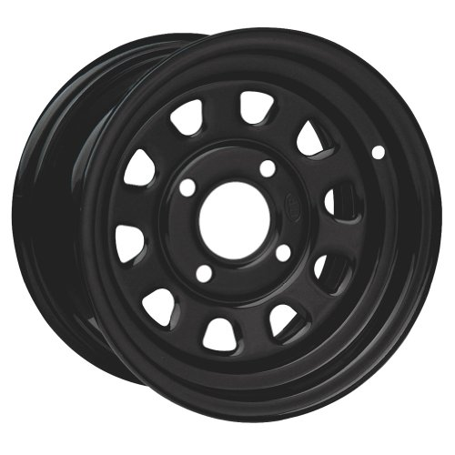 ITP Delta Steel Wheel – 12×7 – 5+2 Offset – 4/110 – Black , Bolt Pattern: 4/110, Rim Offset: 5+2, Wheel Rim Size: 12×7, Color: Black, Position: Front/Rear D12F511
