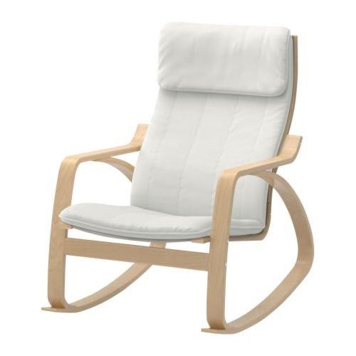 Ikea Poang Rocking Chair Birch Veneer with Natural Cushion