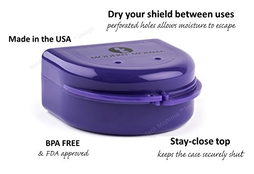 Large Product Image of Best-selling Nipple Shield Carrying Case, Perfect Solution for Medela Shields and Similar Shields, By Modern Momma; Purple Pansy