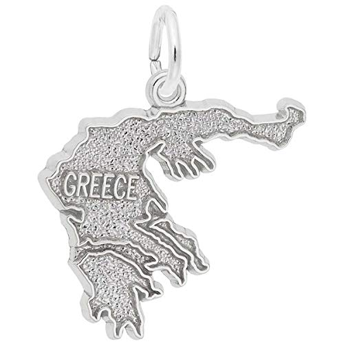 (Rembrandt Charms Greece Charm, 14K White Gold)