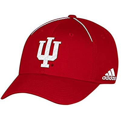 NCAA Indiana Hoosiers Adult Men Coach's Structured Flex, XX-Large, Red