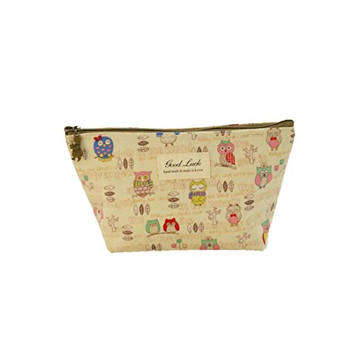 New Goods Sale!Makeup Case Pouch,ZYooh Fashion Portable Travel Cute Printed Cosmetic Bag,Large and Lightweight (L) by iLH (Image #1)