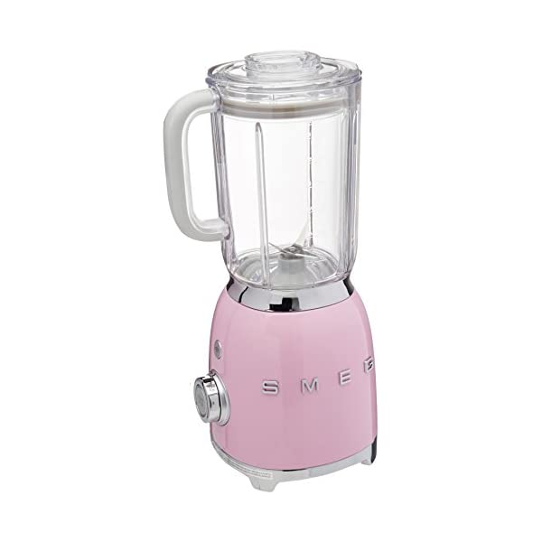 Smeg BLF01PKUS 50s Style Blender, Pink 1