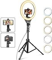 UBeesize 12'' Ring Light with Tripod, Selfie Ring Light with 67'' Tripod Stand, Light Ring for Video Recording
